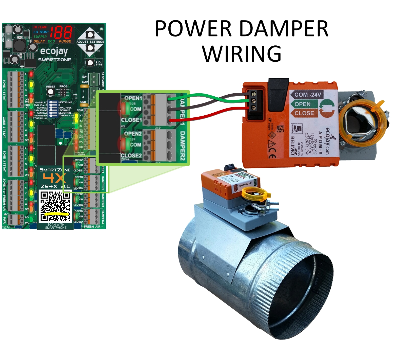 medium resolution of ecojay smartzone hvac zone control damper