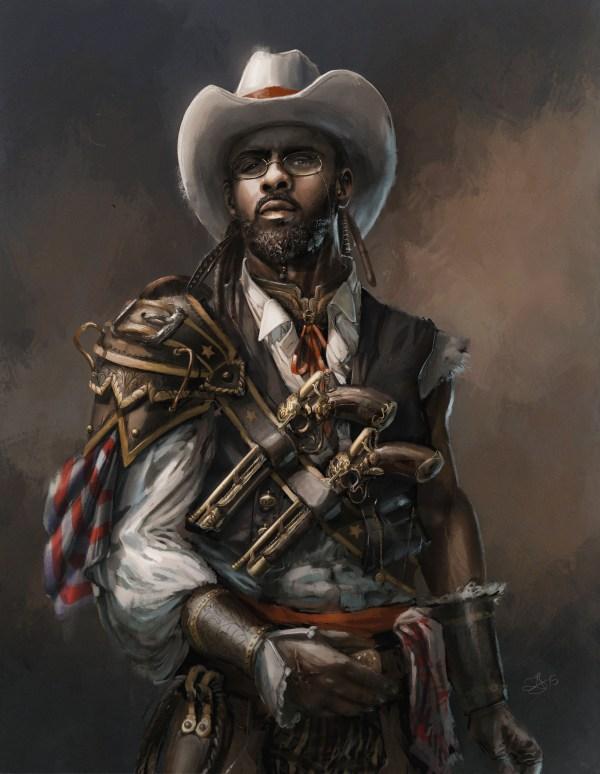 Cowboy Steampunk Concept Art