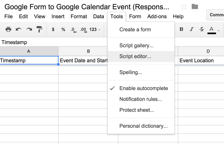 Turn a Google Form Response into a Google Calendar Event — Jesse Spevack
