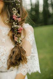 boho wedding hair - braids