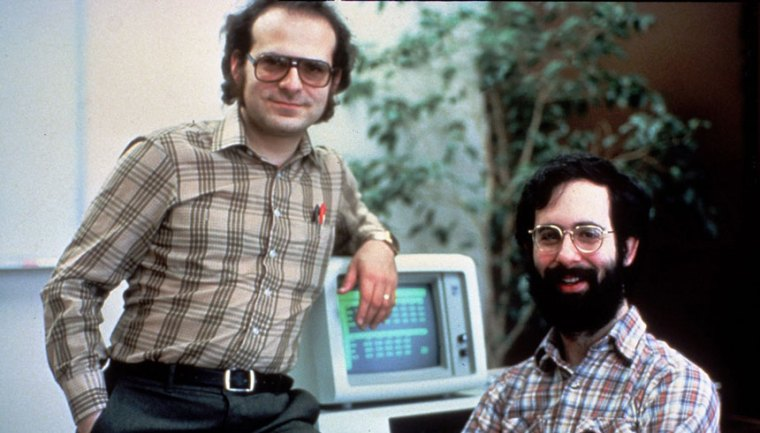 VisiCalc co-founders Bob Frankston (left) and Dan Brickland (right).