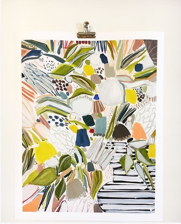 fruity print 22x28