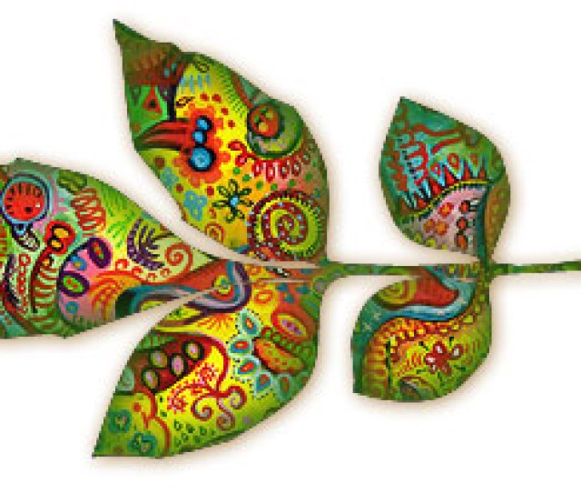 Abstract Art Leaf