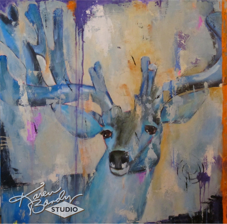 blue velvet abstract acrylic