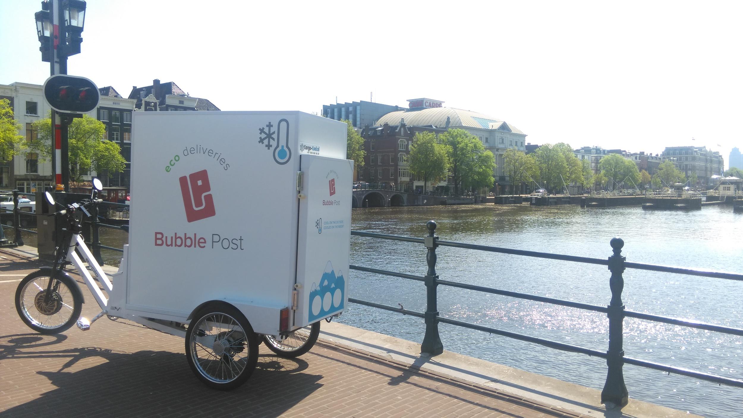 Bubble Post unveils cool cargo bikes