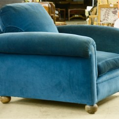 Teal Club Chair Oxo Tot Seedling High Cushion Sue Et Mare Pair Of Chairs 1235 Calderwood Gallery