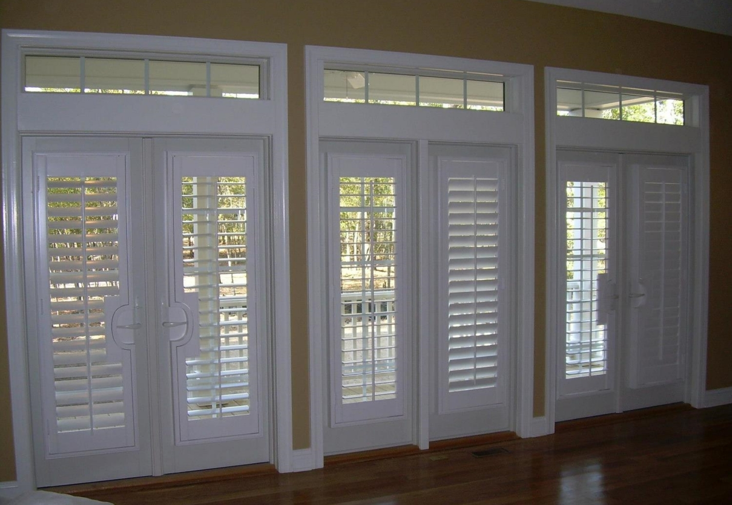 Plantation Shutters Designed For Doors And Sidelights