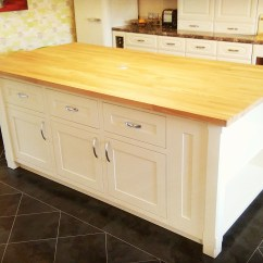 Handmade Kitchen Islands Pedestal Table Kitchens Chester Morris Ltd Bespoke Shaker Island Unit Hand Painted In Colour Matched Eggshell Pop Up Electrical