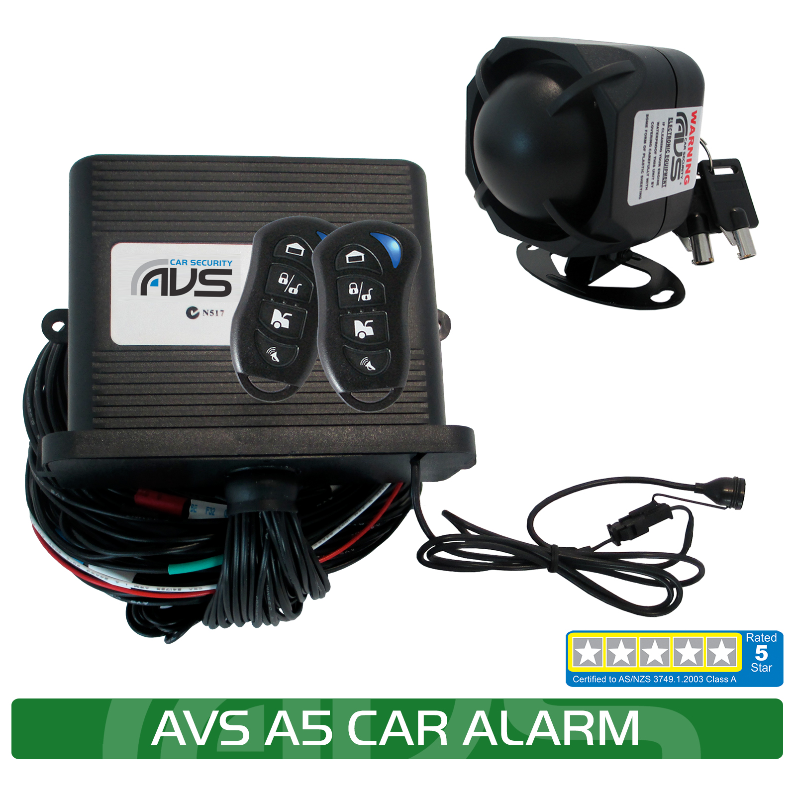 hight resolution of the avs a5 is a great five star car alarm packed full of good features and all at an affordable price