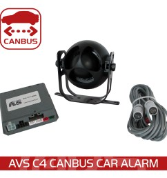 the avs c4 digital car alarm communicates with your vehicle s can bus platform for seamless integration into the factory system  [ 1000 x 1000 Pixel ]