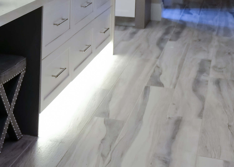 gray kitchen floor designer sinks flooring trends 2018 the light