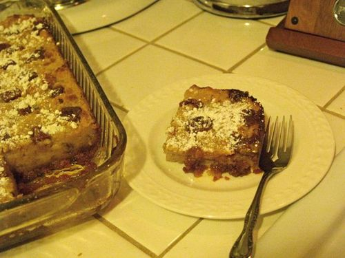 Bread pudding with guava