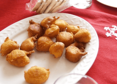 Frituras de harina de maiz