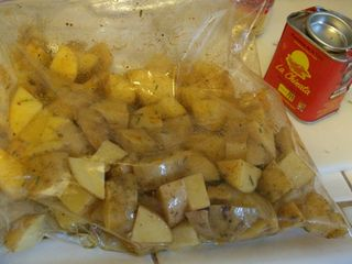 Roasted potatoes in ziplock 2