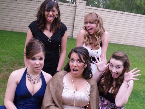 Prom girls goofy