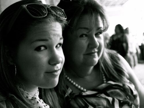 Lucy & me b&w
