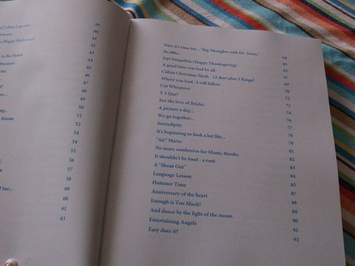 Blog book contents