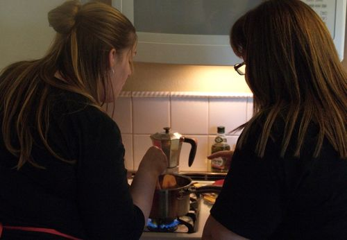 Amy & me cooking