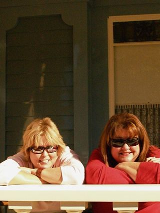 Pam & me on porch
