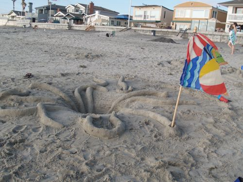Creature with flag