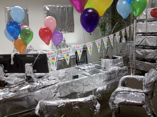 Foil covered office
