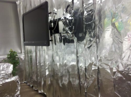 Foiled office wall