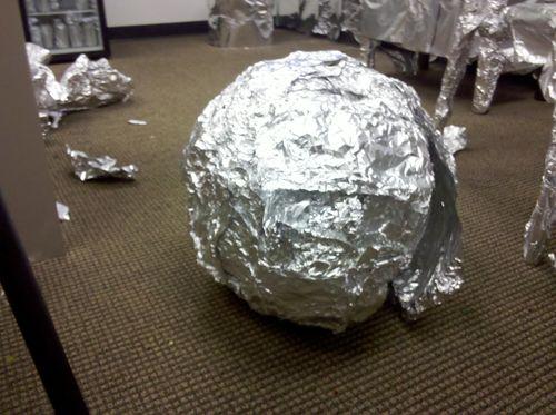 Giant foil ball
