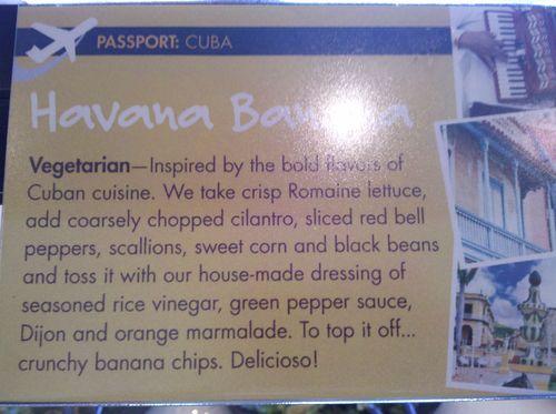 Havana banana salad description