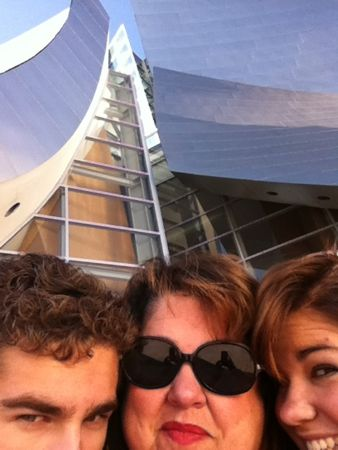 3 of us at the Disney Concert Hall