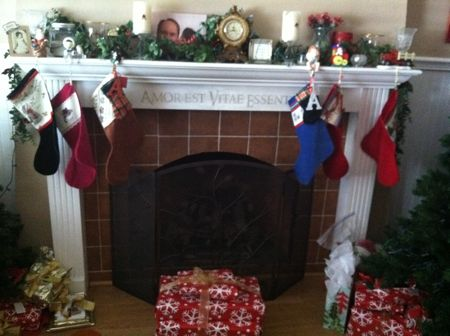 Christmas Stockings on the Fireplace