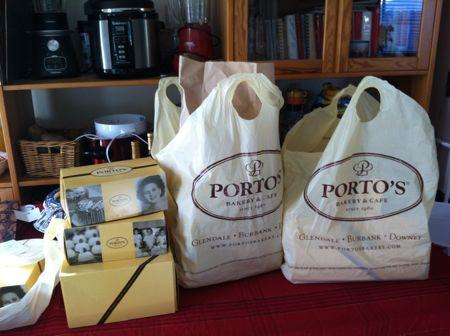 Porto's Bakery boxes