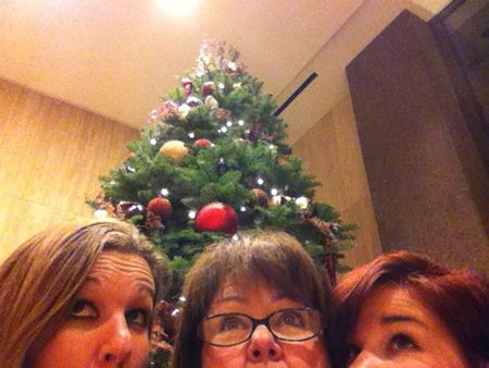 My girls and Christmas tree