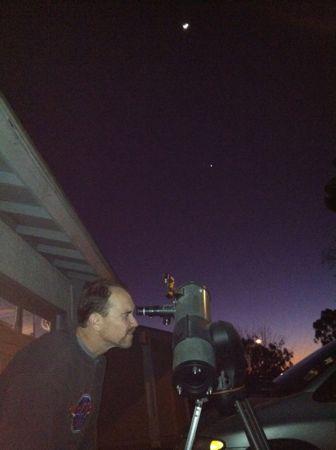 Eric and telescope