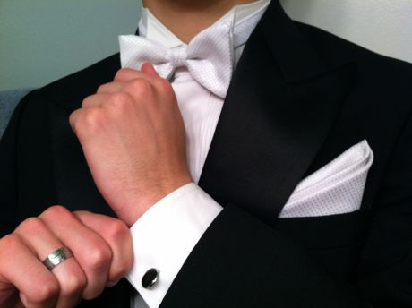 Tuxedo closeup