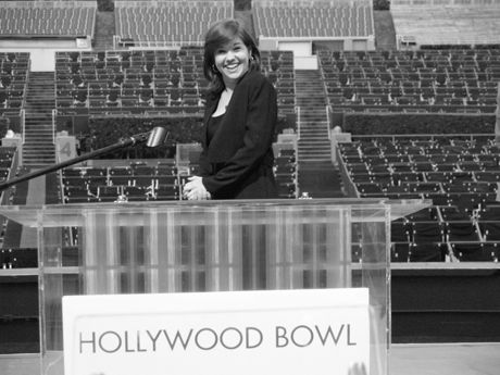 Lucy on stage at Hollywood Bowl