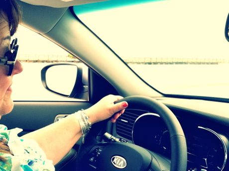 Driving Kia Optima