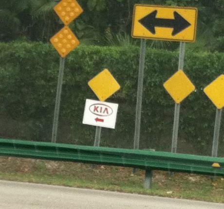 Kia sign