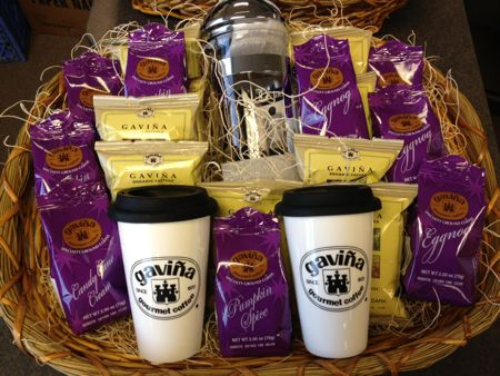 Gavina coffee gift basket