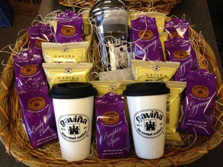Gavina coffee gift basket