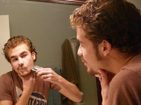 Jon shaving