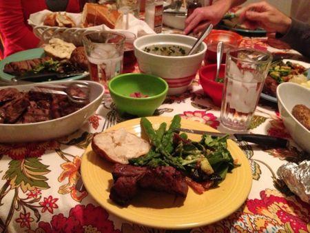 Darby family dinner 3