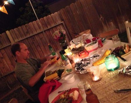 Dinner on the farmhouse table