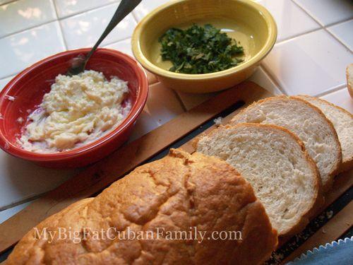 Cuban bruschetta slice the bread copy