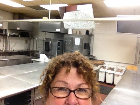 Marta in the pastry kitchen