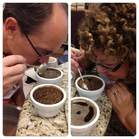 Eric & Marta coffee cupping
