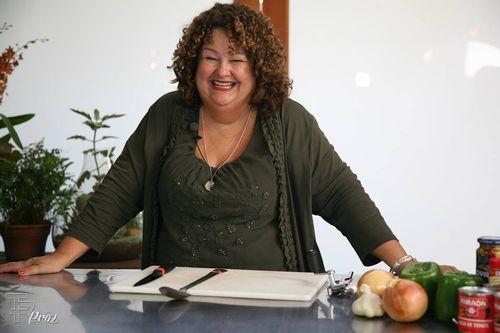 Marta in kitchen