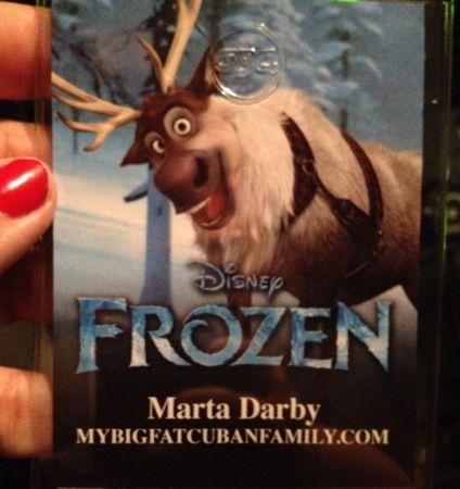 Frozen press badge