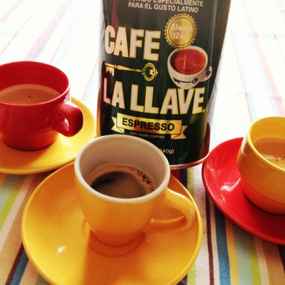 Cafe la llave espresso - my big fat Cuban family