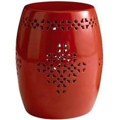 Ceramic outdoor stool