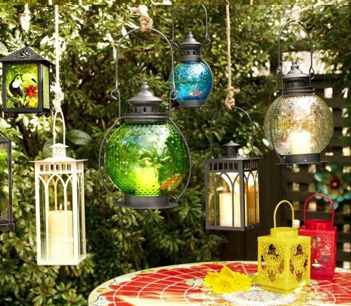 Pier 1 lanterns and outdoor lights